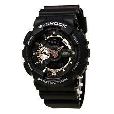 Reloj Para hombres Casio G-shock Resistente Solar Analógico & Digital Buceo Esfera Negra GA110RG-1