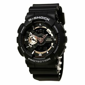 Casio Men's Watch G-Shock Tough Solar Ana-Digi Dial Black Resin Strap GA110RG-1