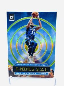 Karl-Anthony Towns 2019-20 Optic Green T-MINUS 3,2,1 #10 /149