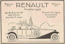 Y7272 RENAULT Modèles 1923 - Pubblicità d'epoca - 1923 Old advertising
