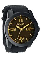 NEW Nixon A243-1354 Corporal Matte Black Orange Tint Watch (NO BOX INCLUDED)