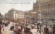 B85864 charing cross and strand double decker bus car   london uk