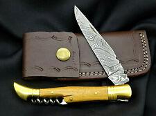 Taschenmesser-Laguiole-Damastmesser-Jagdmesser-Klappmesser -Holzgriff- (AB906)