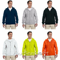 Gildan DryBlend Full Zip Up Mens Hoodie Hooded Sweatshirt Hoody S-3XL 12600