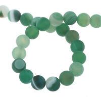 Natürliche Streifen Achat Perlen Matte Grün 4mm Edelsteine Natur Achatstein G837