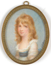 "Patricius Kittner (1809-1900) ""Portrait of a girl"", miniature, 1st half of 19 c."