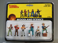 WOODLAND SCENICS O SCALE JUG BAND FIGURES music people men banjo WDS 2743 NEW