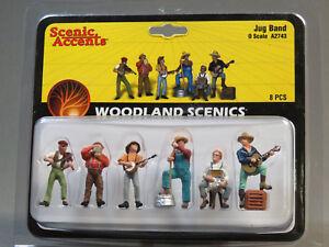 WOODLAND SCENICS O SCALE JUG BAND FIGURES music people men banjo WDS2743 NEW