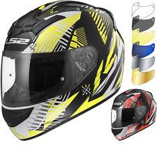 LS2 Helmet Motorbike Fullface Ff352 Rookie Infinite White-black-red XXS