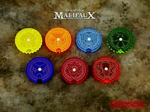 Wound Dials / Trackers (10 Pack) - MALIFAUX M3E - LASERFORGE