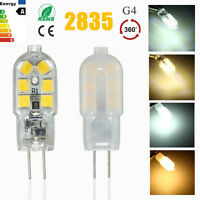 Mini G4 3W 2835 LED 12 SMD Base Lámpara Bombilla Luz 360° 12V/220V PC Pantalla