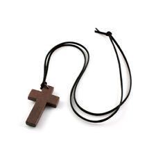 Ancient Retro Fashion Ancient Wood Christian Religous Cross Necklace Pendant