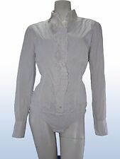 camicia donna body bianco BENETTON stretch tg M MEDIUM