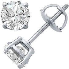 0.27 CT Diamante Azul mejorado SI1-SI2 Oro Blanco 14K para hombres Arito único