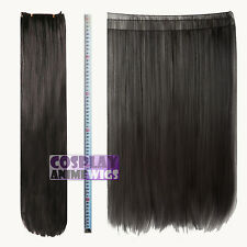 Chestnut Brown Hair Weft Extention (3 pieces) - 60cm High Temp - Cosplay 7_04A