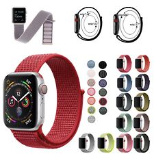 Sport Loop Woven Nylon Sport Watch Band Strap For Apple Watch Series 6/5/4/3/2/1