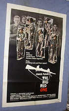 Original Lee Marvin  BIG RED ONE movie theater poster 1st Infantry Division WWII