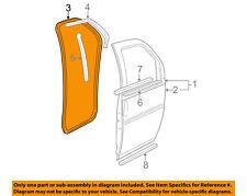GM OEM Front Door-Weatherstrip Weather Strip Seal Left 15797051