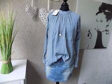 Marc O´Polo lockere Tunika Bluse Crinkle blaugrau Gr. L 44 46 NEU Trend (40a)