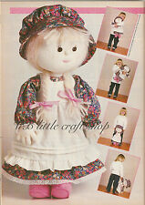 Adorable rag doll sewing pattern. Copy from magazine.