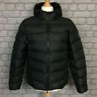 EA7 EMPORIO ARMANI MENS BLACK DOWN FILLED HOODED COAT JACKET RRP £300 AD