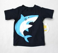 Koala Kids Baby Boys' Short Sleeve Shark Print Rush Guard Swim Top 3-6M Navy