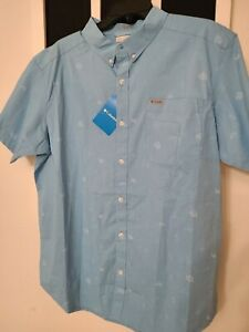 New Columbia Men's rivermont printed short sleeve shirt Size Large