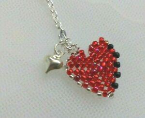 ST Valentine Gift DESIGNER Geometric handmade TWO HEARTS Bag CHARM, lovely Gifts