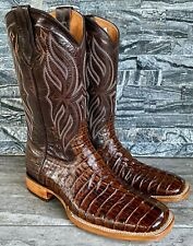 Cactus Exotic Men's Brown Caiman Boots Square Toe Square Toe Cowboys boots 10.5