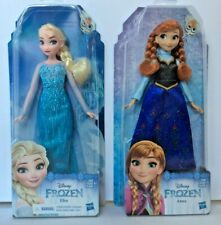 """Hasbro Disney Frozen Classic Princess Elsa and Anna Doll Lot - 11"""" NEW in Boxes"""