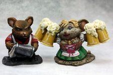 Mouseling Bartender Wench Reaper Miniatures Dark Heaven Legends Bar Keep Mugs