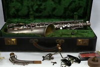 Cavalier/Pan American 92M Alto Saxophone 92 M Conn Stencil Elkhart 1930's AS IS