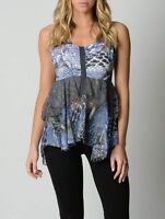 Just Jeans Ladies Sleeveless Top sizes 8 10 12 14 Colour Multi Print