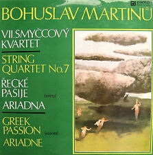 Bohuslav Martinu String Quartet no 7 / Greek Passion 1980 EX/EX Panton 8116 0025