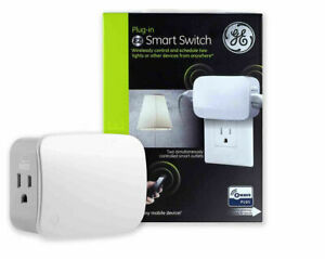 GE Jasco 14282 Z-Wave Plus Plug-In Dual Outlet Smart Switch, White