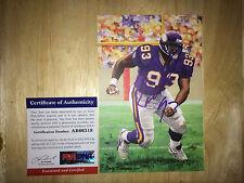 John Randle Signed Goal Line Art Card GLAC HOF 10 Minnesota Vikings PSA/DNA