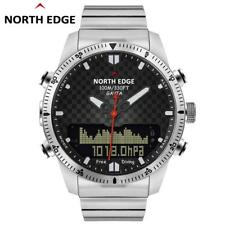 Men's Stainless Steel Digital Sports Watch Waterproof Diving Military Army Watch