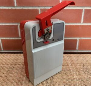 Vintage Retro 1970's MOULINEX Electric Can Opener Works Perfectly Red & White