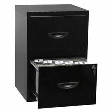 Soho 2 Drawer Filing Cabinet Black