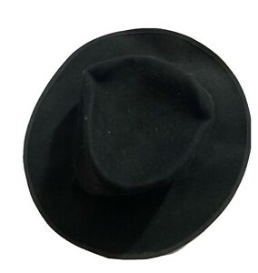Vintage Black Fedora Hat Without Ribbon Genuine Item From 1980