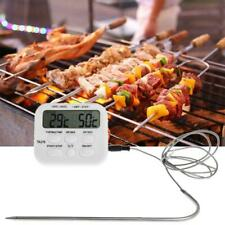Digital BBQ Thermometer Cooking Meat Food Oven Grill Kitchen Timer Thermometer