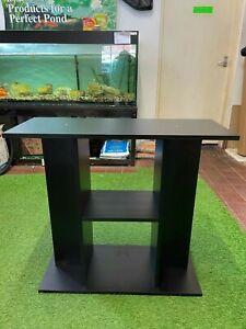 """31"""" 80cm FISH TANK AQUARIUM STAND CABINET IN BLACK (IDEAL FOR 30X12"""" AQUARIUMS)"""