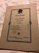 Waltzes by Franz Schubert Guy Maier Set 2 Seven Waltzes 5271 Sheet Music 1923