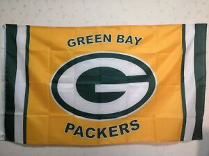 Green Bay Packers Wordamark Flag 3X5 FT NFL Banner Polyester FAST SHIPPING!!!