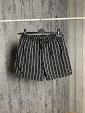 Dolce Gabbana Men`s Striped Black Swimming Shorts Size L