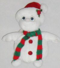 "Plush White 7"" Wide Eye Dreamsicle Angel Snowman Doll"