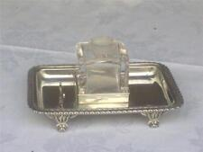 HM Silver Mappin & Webb Inkstand - Chester 1919 - standish - inkwell