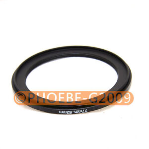 77mm-62mm 77-62 Step Down Filter Ring Stepping Adapter