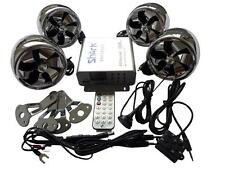 shark SHKC6800 1000w  4ch motorcycle audio system w/ 2 remotes,FM, SD,USB chrome