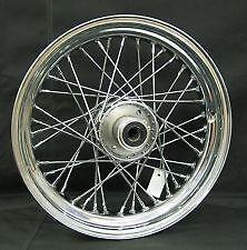 "40 SPOKE 16"" FRONT WHEEL 16 X 3 HARLEY SOFTAIL FLST FLSTC HERITAGE FLSTF FAT BOY"